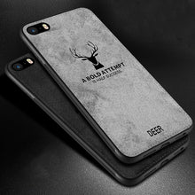 Load image into Gallery viewer, Classic Vintage Wilderness Deer Logo Fabric Case For iPhone 5s 5 6s 7 8 Plus Case Distressed Cloth Finish Hard Back Protective Cover For Apple iPhone