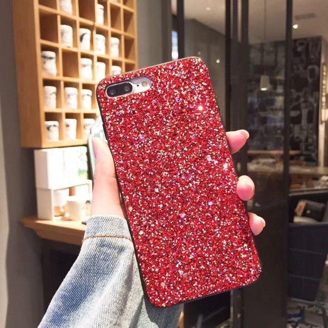 Sparkling Bling Glitter Cases For iPhone X 6 7 8 Plus TPU Cover Back For iPhone 6 6S 7 Plus 8 Plus iPhone Case Luxury Fashion Shiny Phone Case