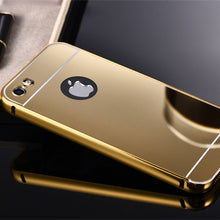 Load image into Gallery viewer, Luxury Aluminum Metal Frame Case For iPhone 5 5S SE Phone Case Deluxe Metallic Frame Mirrored Finish Shockproof Cover For iPhone 4 4S 5 5S Cases