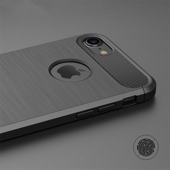 Ultra Thin Carbon Fiber Effect Case for iPhone X XR XS 5S SE 5 6 6S 7 8 Plus Soft Rubber Silicone Protective Anti-Knock Back Cover for iPhone XS MAX