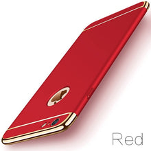 Load image into Gallery viewer, Luxury Slim Gold Matte Hard Case for iPhone Xs Max XR 11 Pro 7 6 6s 5 5s SE X Back Cover Removable 3-in-1 Case for iPhone 8 7 6 6s