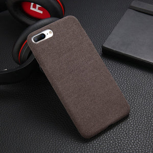 Plush Fabric Phone Case For Apple iPhone X 8 7 6s 6 Plus Warm Fashion Soft Color Contemporary Style Back Cover Case For iPhone