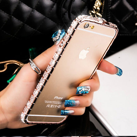 Luxurious Bling Crystal Diamond Rhinestone Case For iPhone 8 7 6 6S Plus 5 5S SE iPhone Cover High Fashion Glitter Case