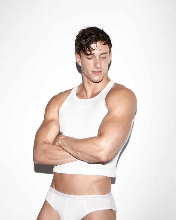 White Chad Crop Top