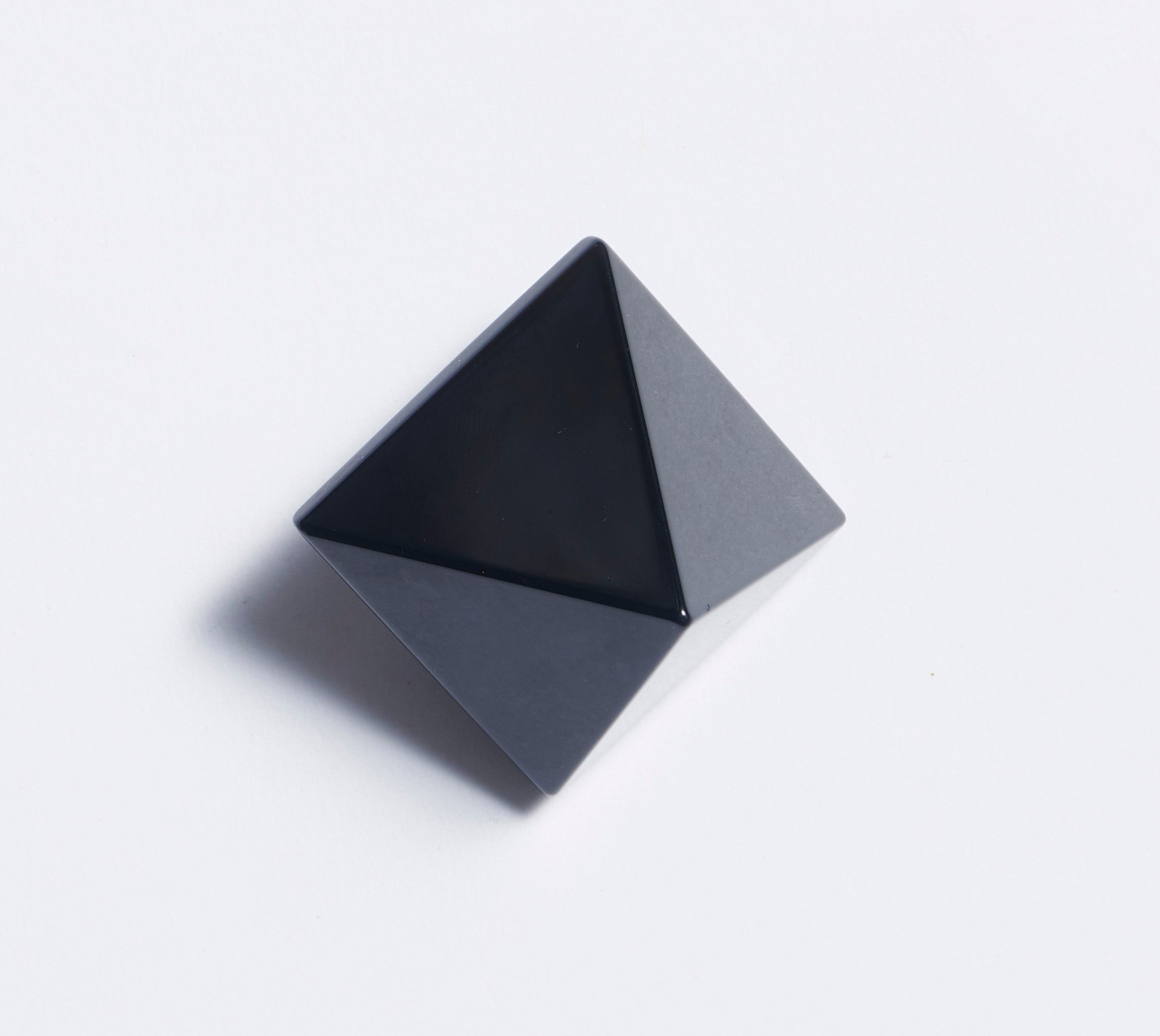 Black Obsidian Pyramid Crystal