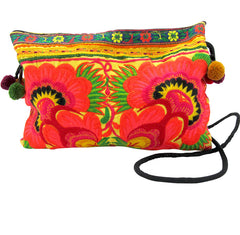 Hmong Hill Tribe Yellow Cross Body Bag
