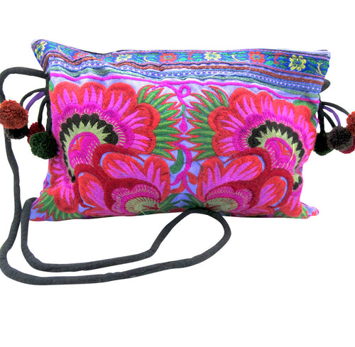 Hmong Hill Tribe Purple Cross Body Bag