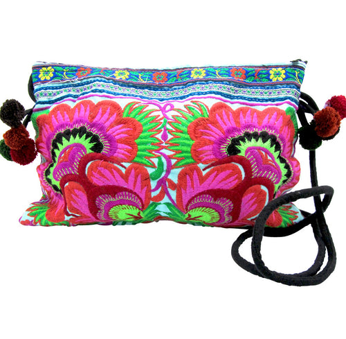 Hmong Hill Tribe Blue Cross Body Bag