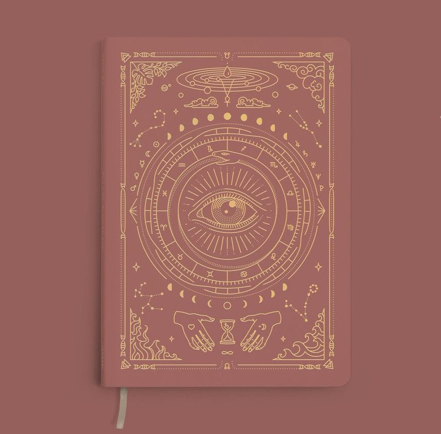 Magic of I. Vegan Leather Journal - Coral Rose