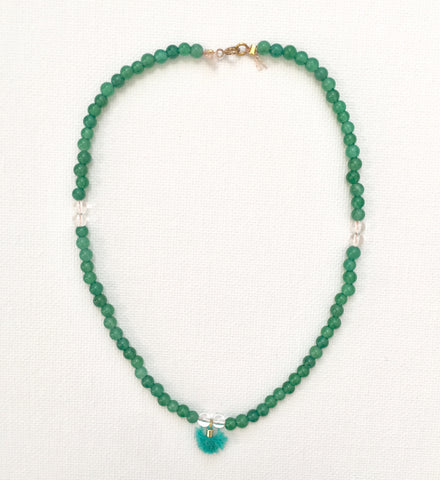Kids Aquamarine Shell Bracelet