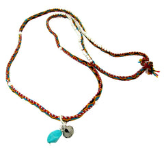 Peruvian Beaded Necklace with Turquoise