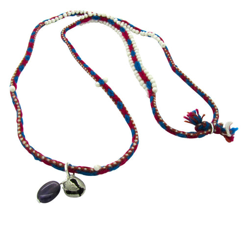 Peruvian Beaded Necklace with Amethyst