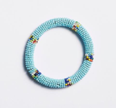 Peruvian Beaded Necklace with Labradorite