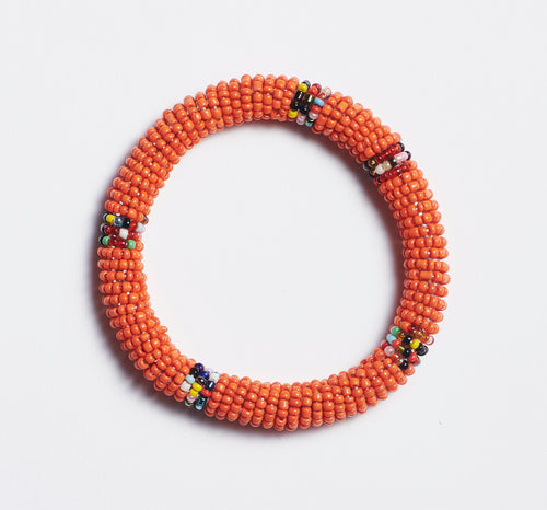 Orange Maasai Bangle