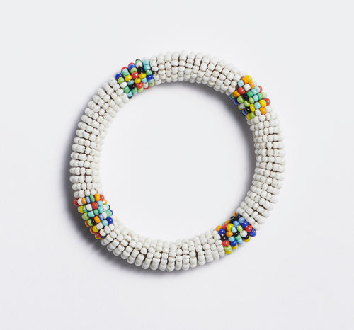 White Maasai Bangle