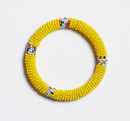 Yellow Maasai Bangle