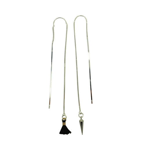 Tassel & Spike Thread Earrings