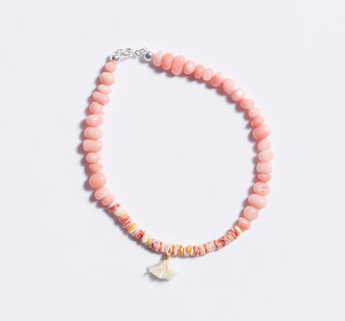 Coral Scallop Anklet
