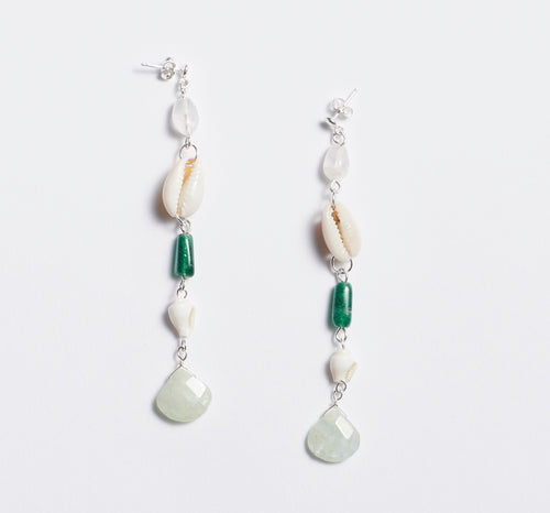 Crystal Shell Earrings
