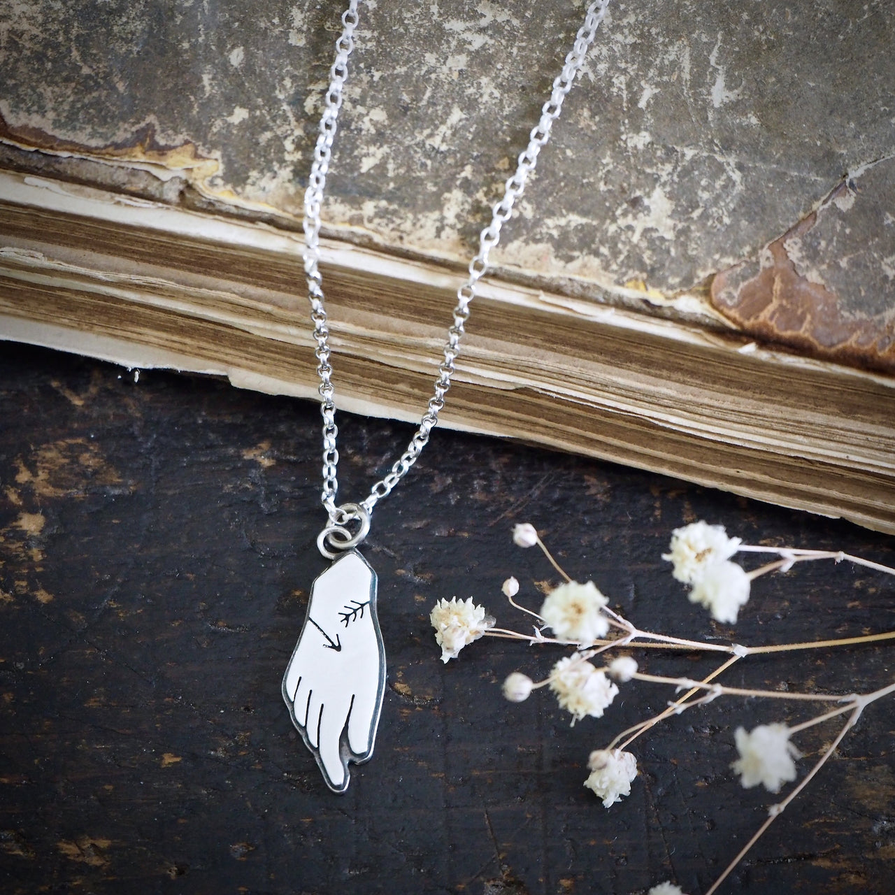 Hand of Diana, Goddess Necklace