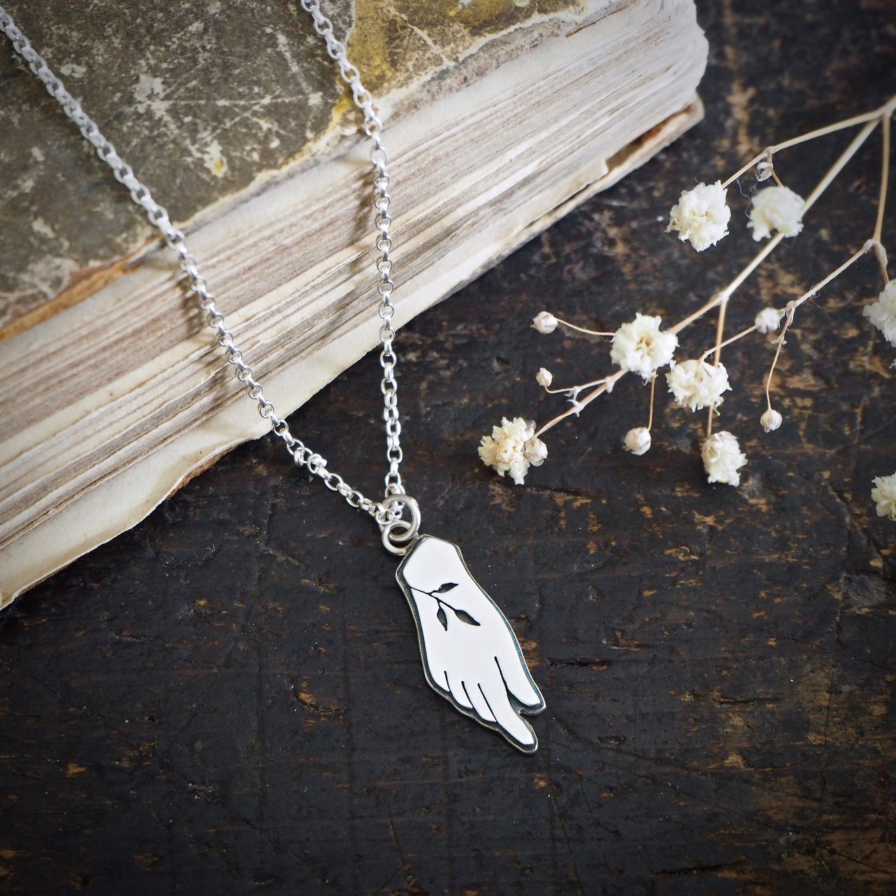 Hand of Flora, Goddess Necklace
