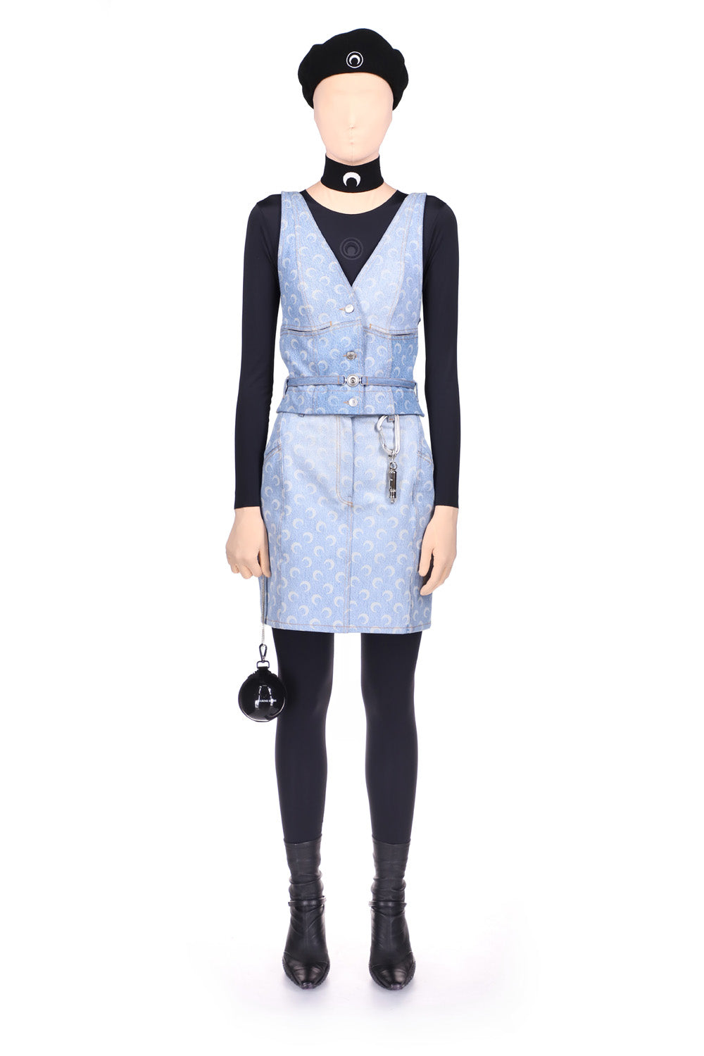 Moon Denim Strapped Apron Top