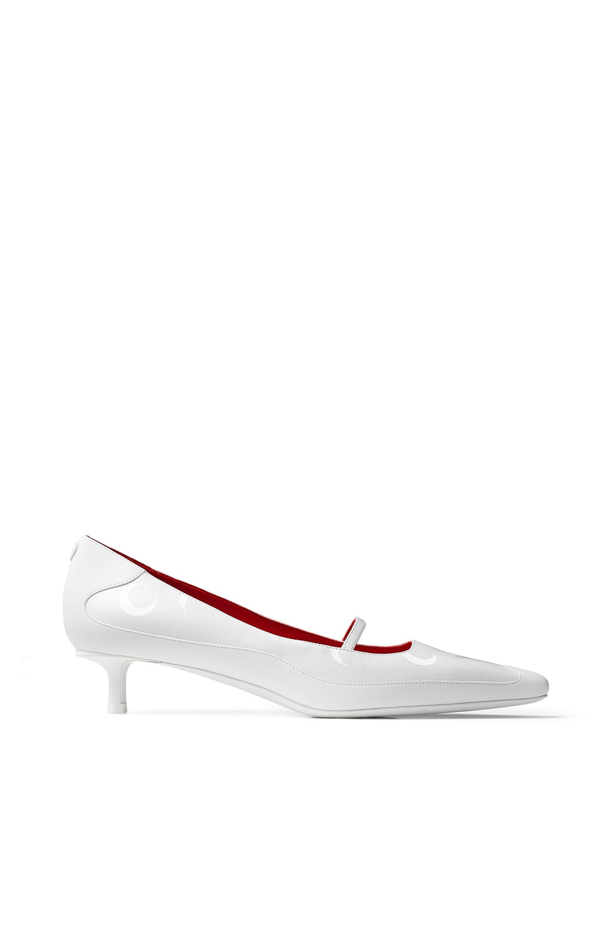 Mary Jane Pump White