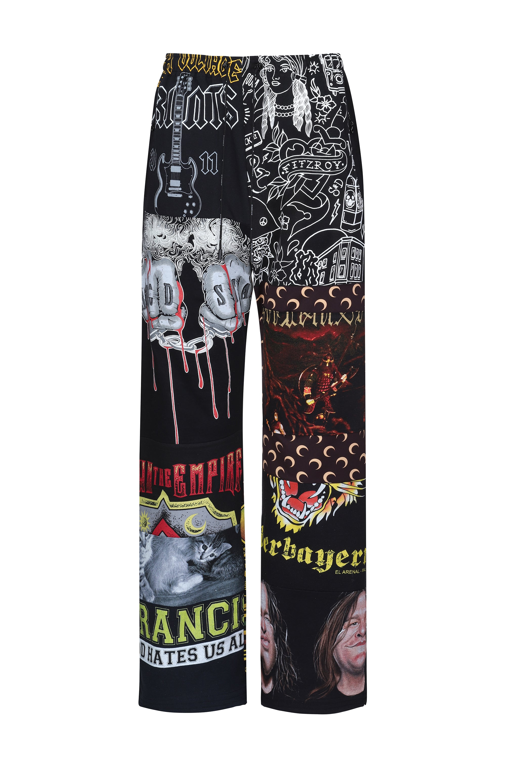 Graphic Patchwork Track Pants