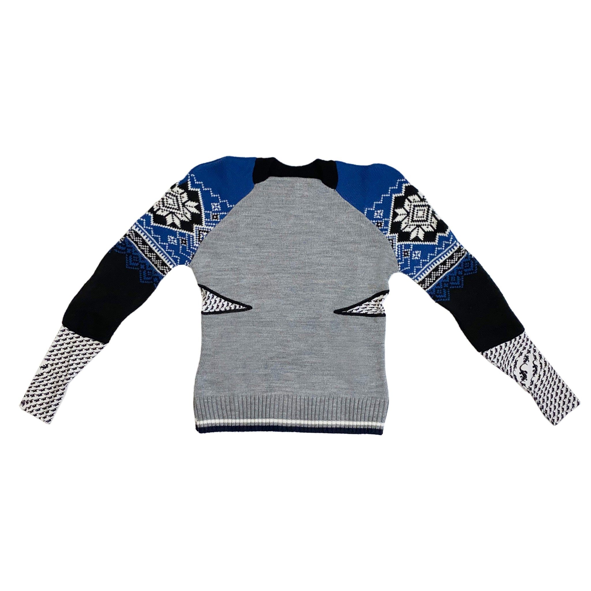 Knit Melange Hybrid Jumper Grey