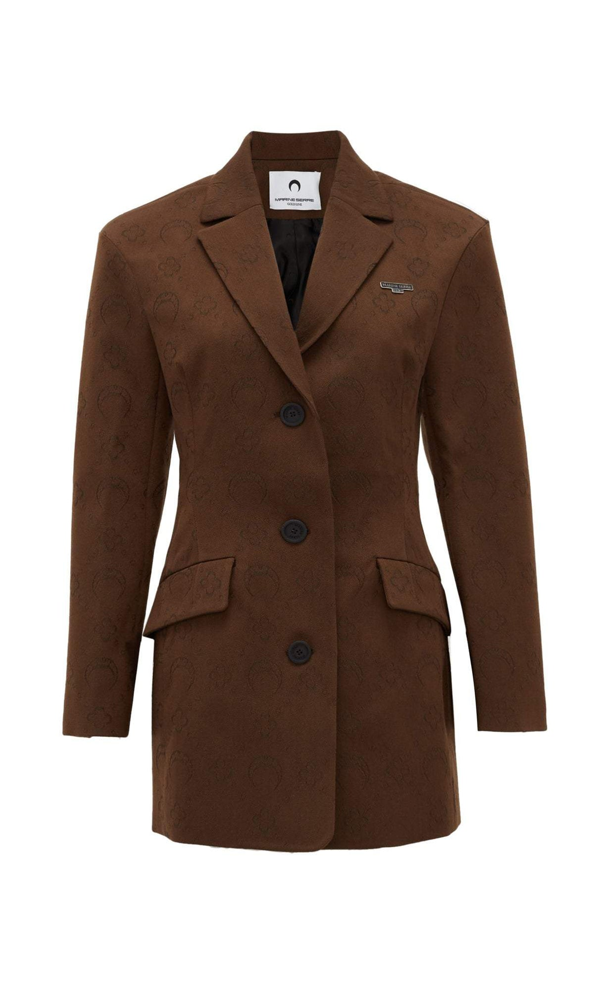 Hour Glass Fitted Blazer Brown