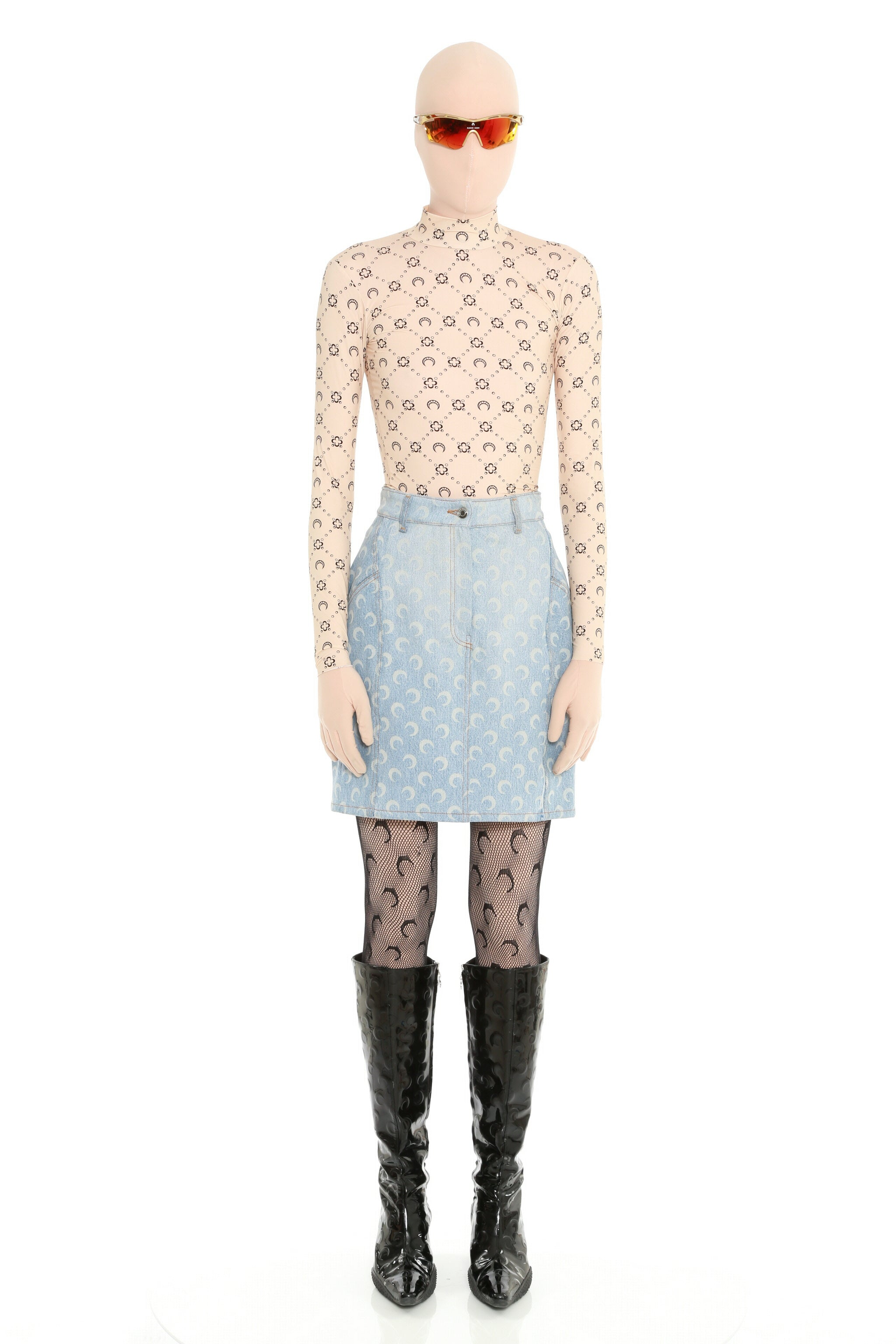 Regenerated Denim Skirt