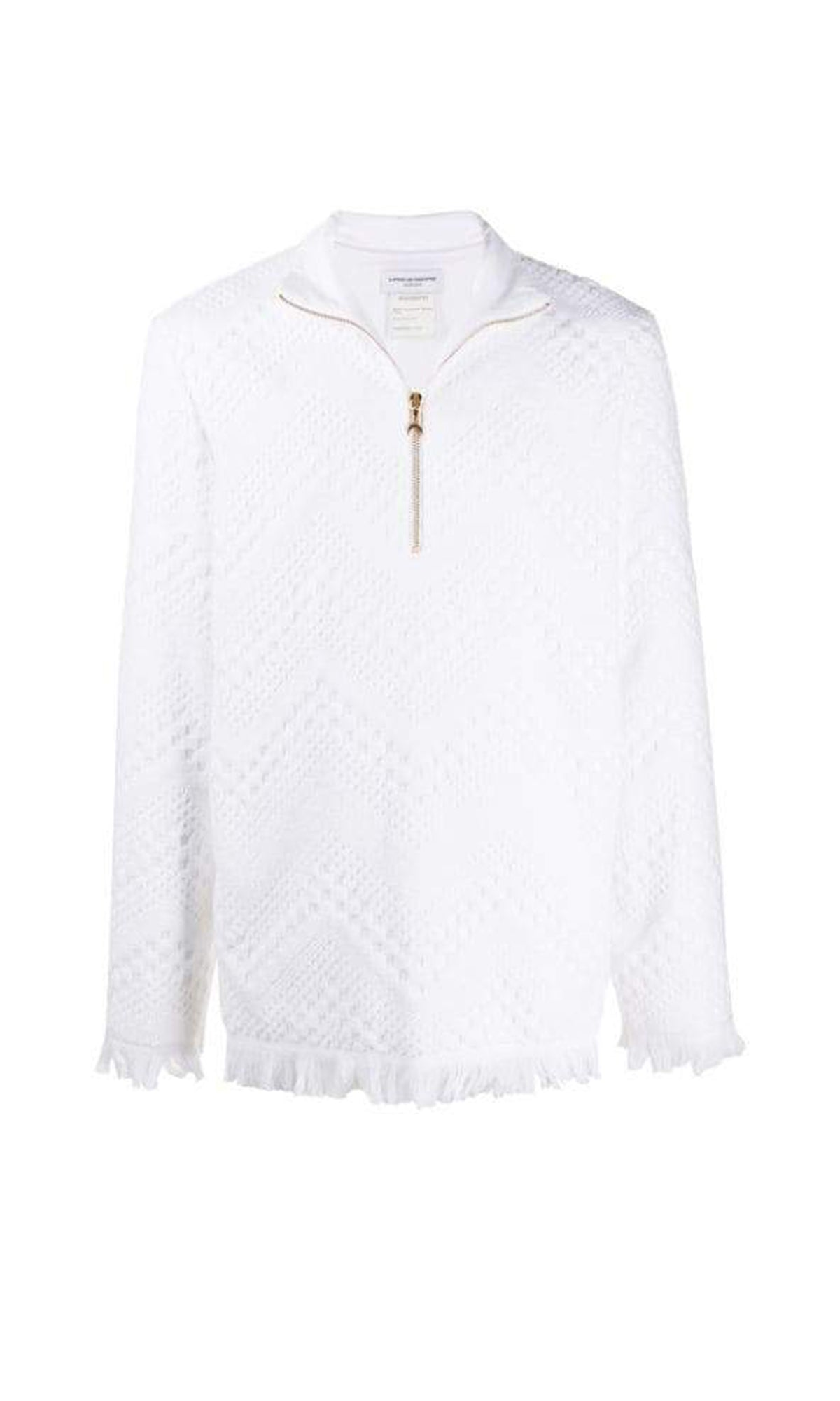 Regenerated Towel Sweater / White Jacquard