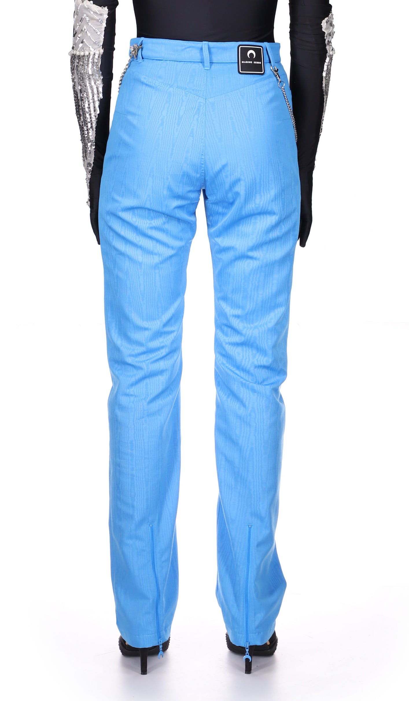 Zipped Hem Straight Fit Trousers