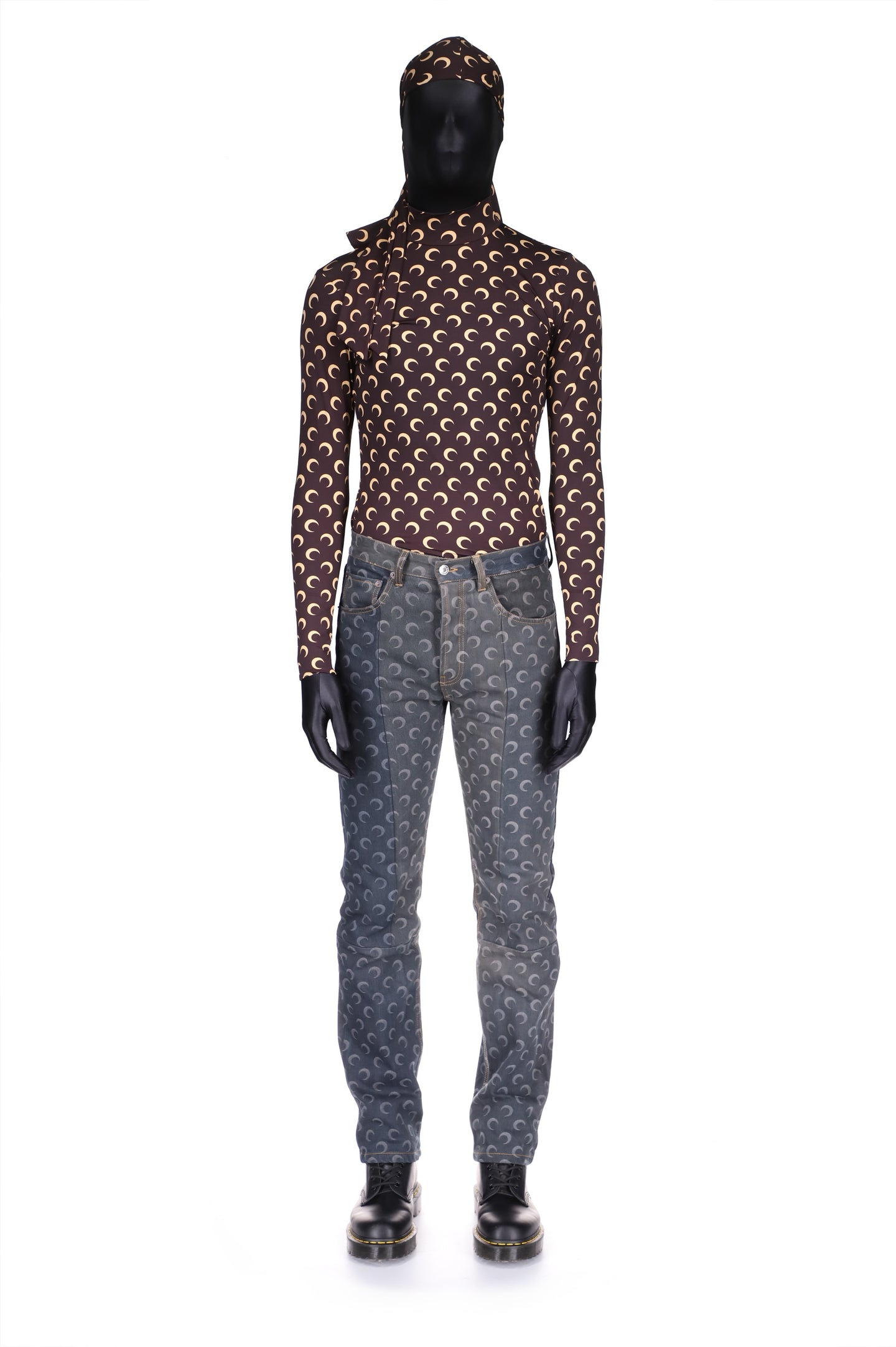 Moon Denim Slim-Leg Trousers