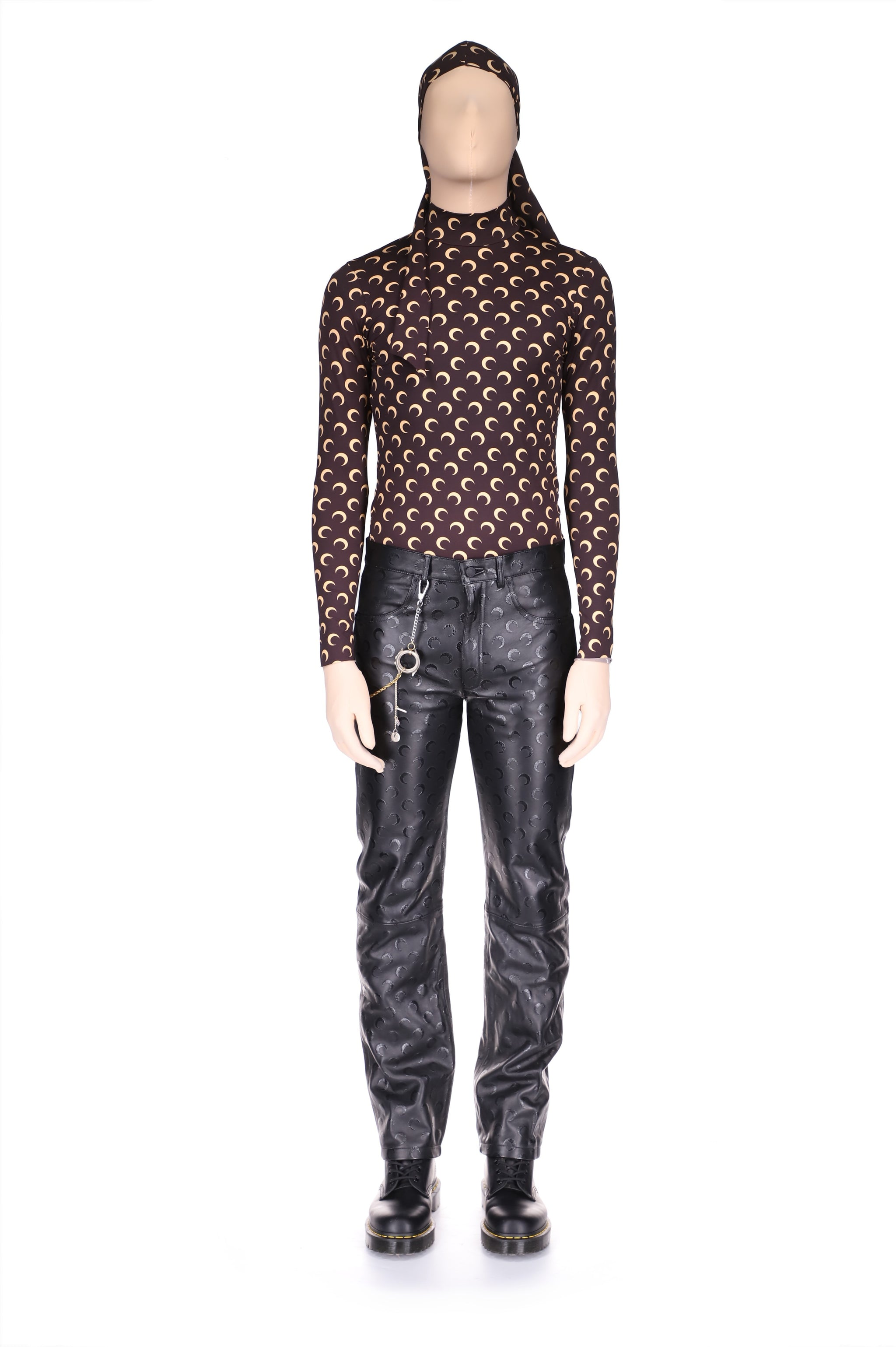 Moon Leather Straight Leg Trousers