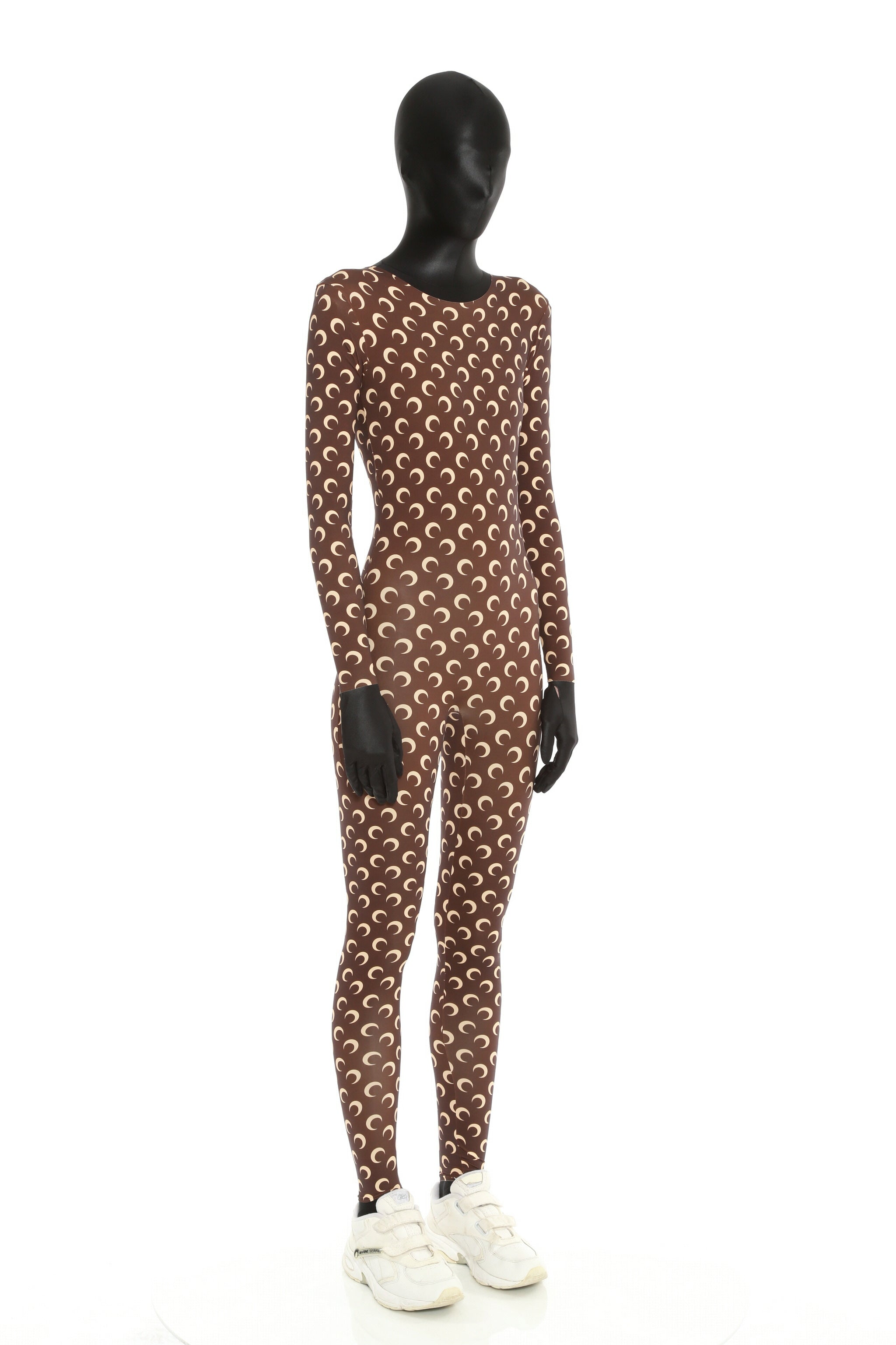 JE07 The Iconic All Over Moon Catsuit Brown