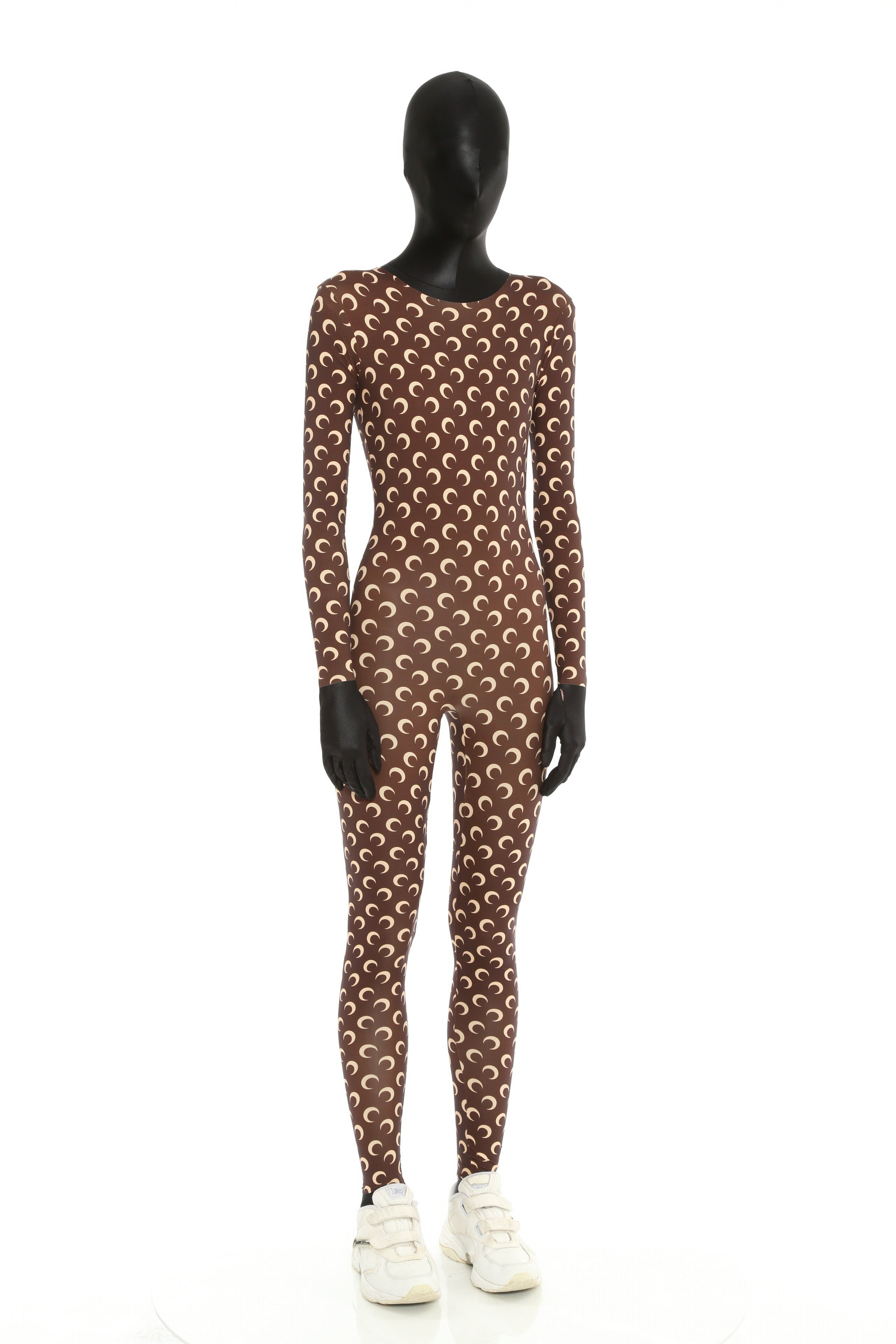 The Iconic All Over Moon Catsuit Brown
