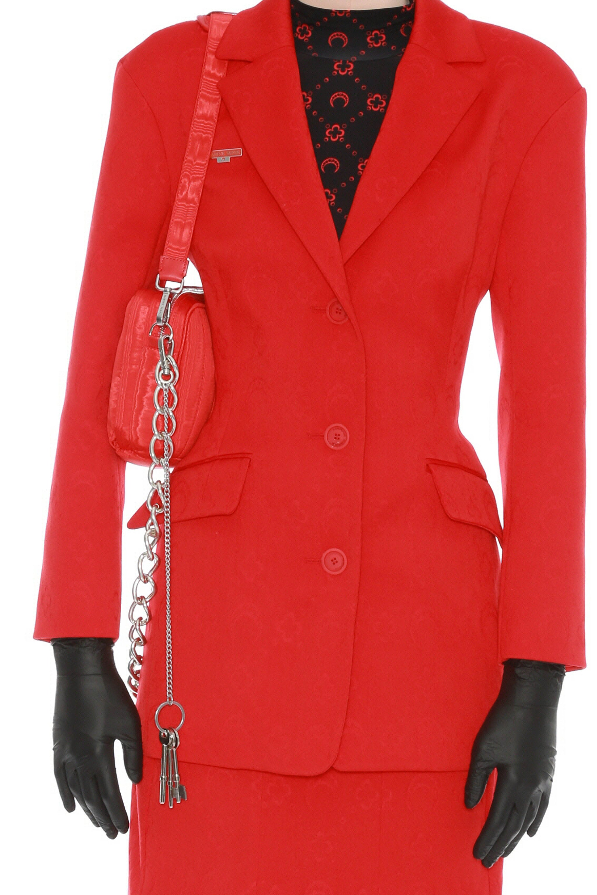 Hour Glass Fitted Blazer Red