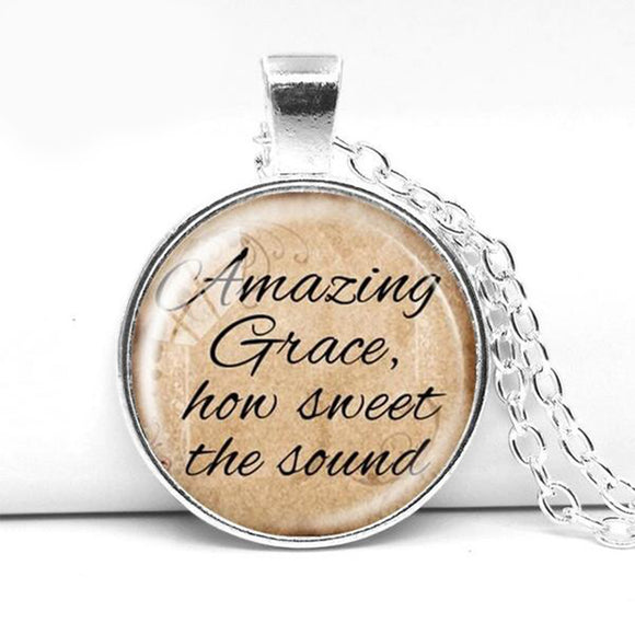 Necklace- Amazing Grace How Sweet the Sound