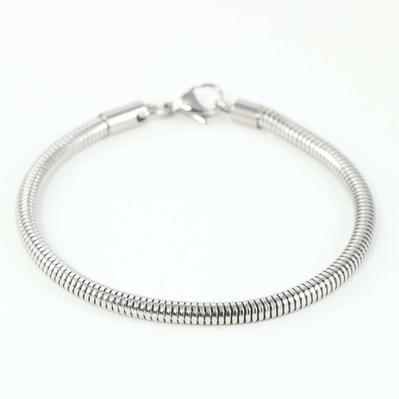Luxury Bracelet Only- Beautiful Stainless Steel Ball Clasp Style Bracelet for your Charms.