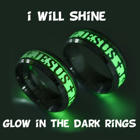 Ring- I Will Shine Glow in The Dark Cross Ring- Let Your Light Shine- Matthew 5:16