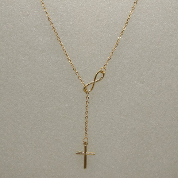 Infinity Personality Cross Necklace