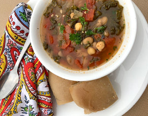 kale and white bean soup (V) (Ve) (DF) (GF) (PB) (NF)