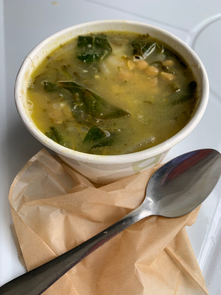lemony lentil spinach soup (V) (Ve) (DF) (GF) (PB) (NF)