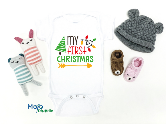 My First Christmas Baby Onesie
