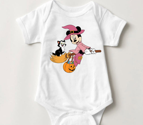 Minnie Broomstick Onesie