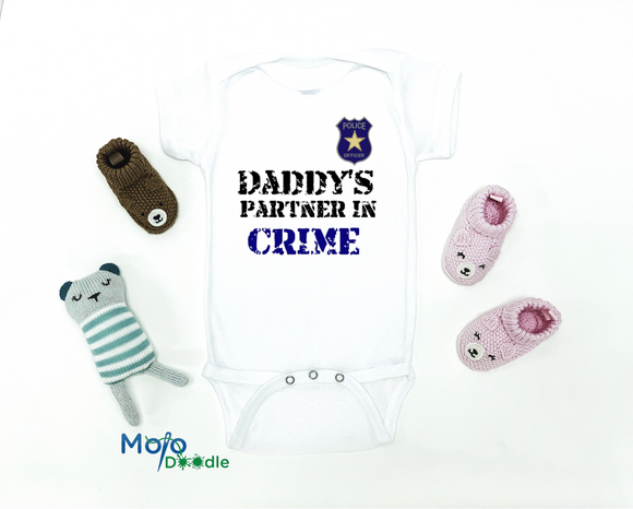 Daddy's Partner In Crime Baby Onesie