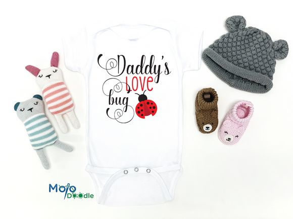 Daddy's Love Bug Baby Onesie