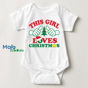This Girl Loves Christmas Baby Onesie