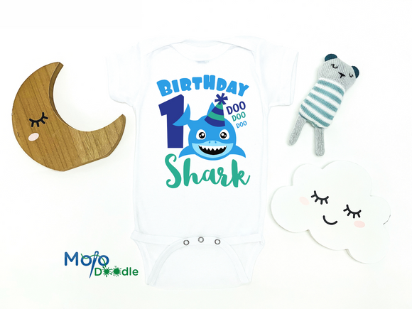 Birthday Shark Baby Onesie